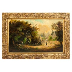 Giltwood Frame German Oil / Canvas Painting