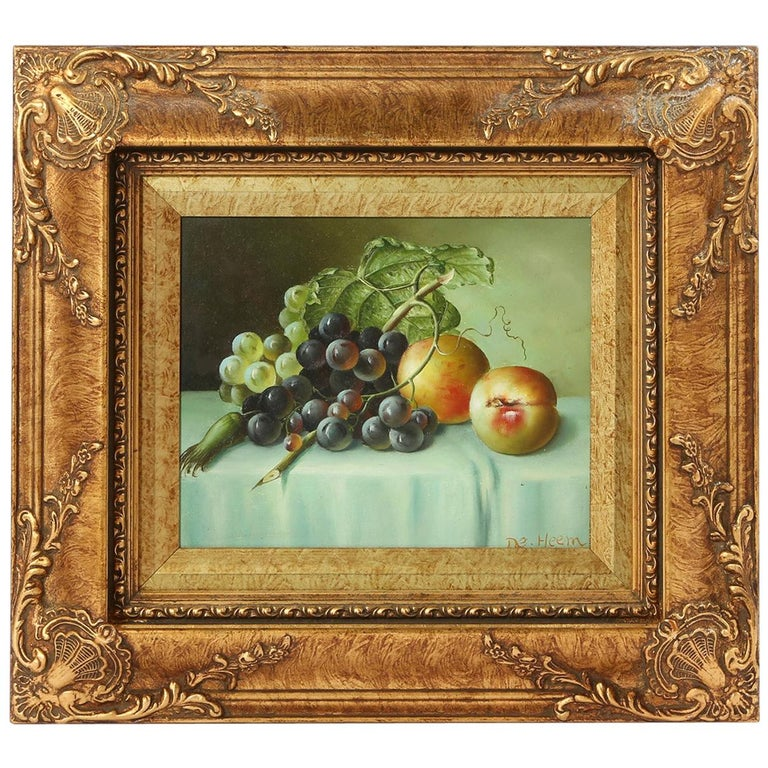 Giltwood Frame Oil on Canvas Painting For Sale