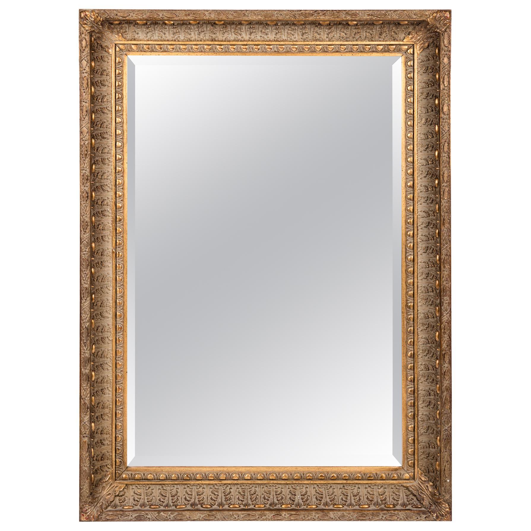 Giltwood Framed Beveled Hanging Wall Mirror