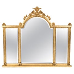 Giltwood Framed Beveled Hanging Wall Mirror