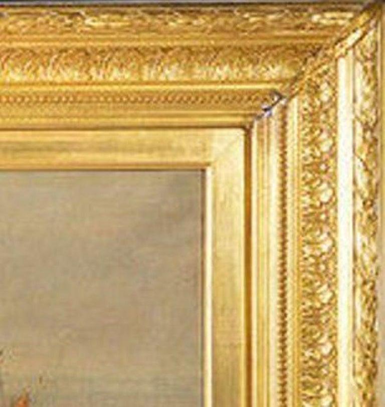 Giltwood Framed Oil on Canvas Nautical Scene For Sale 4