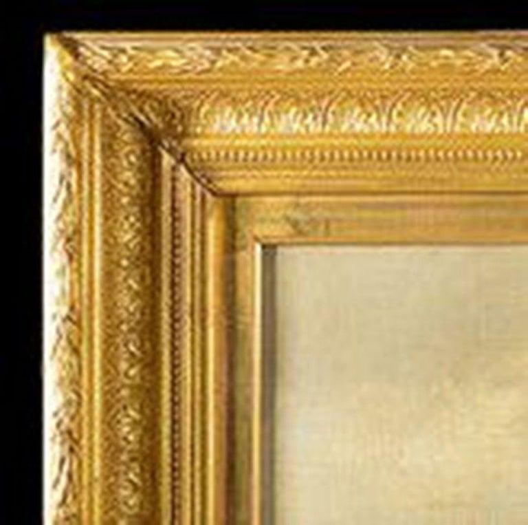 Giltwood Framed Oil on Canvas Nautical Scene For Sale 5