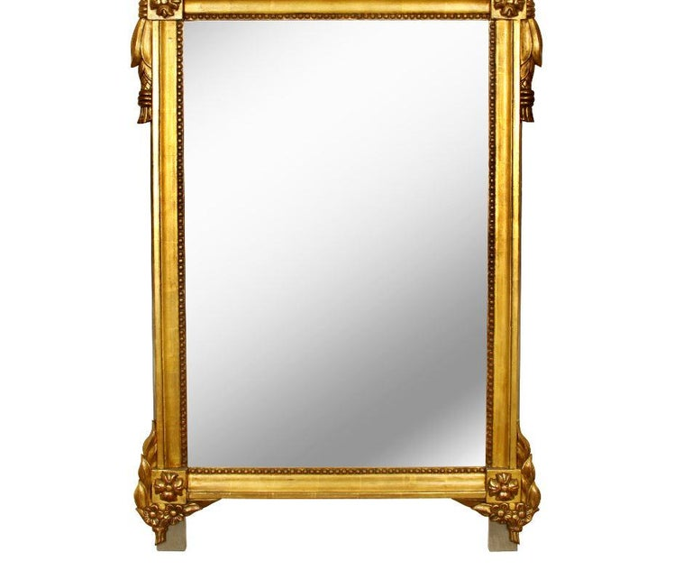 20th Century Giltwood French Louis XVI Style Mirror For Sale