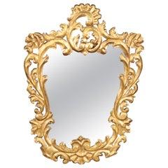 Giltwood French Rococo Wall Mirror, circa 1940s