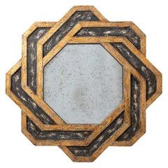 Giltwood Geometric Starburst Mirror