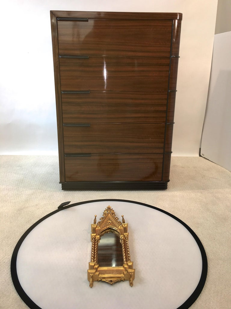 Giltwood Grand Tour Framed Gothic Mirror For Sale 5