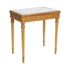 Giltwood Louis XVI Style Accent Table