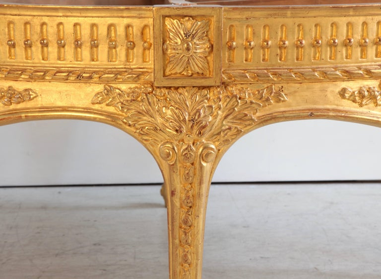 British Giltwood Low Round Table For Sale