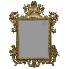 Giltwood Mirror Allegorical of The Seasons