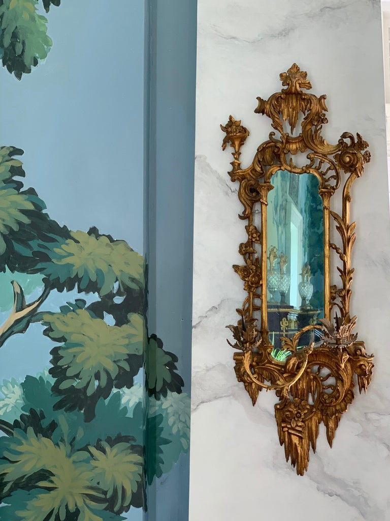 Giltwood Mirrored Wall Sconces For Sale 1