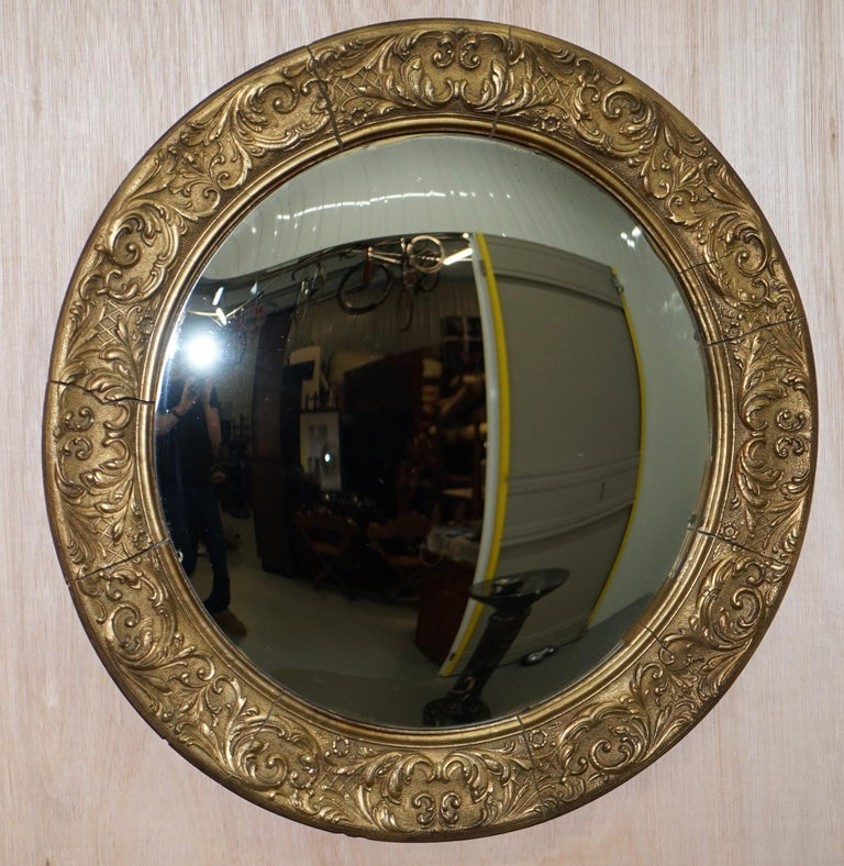 Wimbledon-Furniture  Wimbledon-Furniture is delighted to offer for sale this very nice French Gilt wood convex mirror made in the Regency nautical style  Please note the delivery fee listed is just a guide, it covers within the M25 only, for an