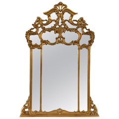 Giltwood over the Mantel Mirror, Wall or Console Mirror