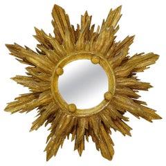 Giltwood Sun Mirror 18th Century