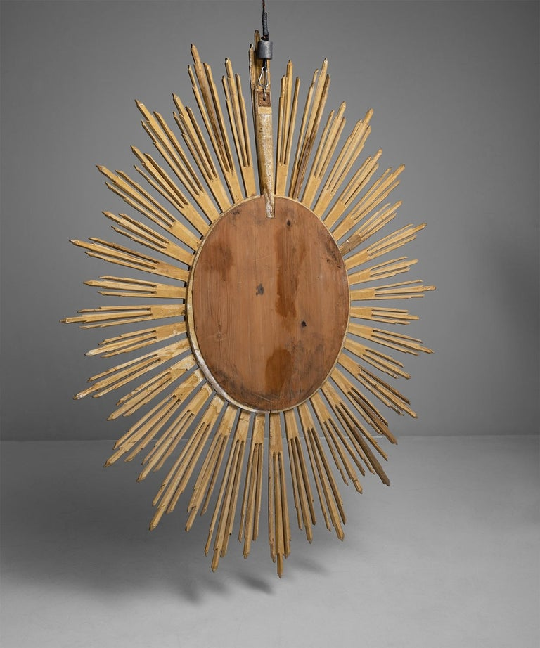 Early 19th Century Giltwood Sunburst Mirror