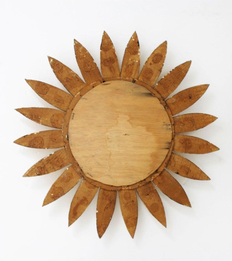 Giltwood Sunburst Mirror For Sale 2