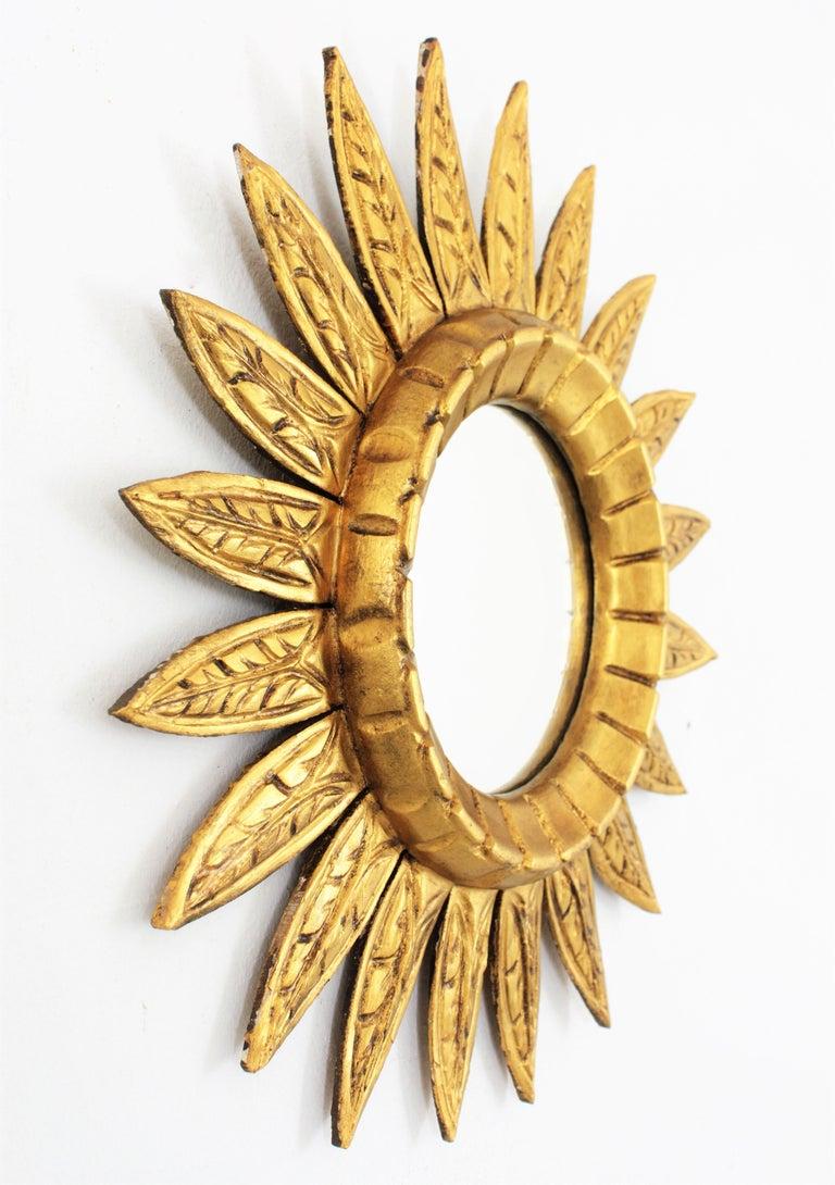 Giltwood Sunburst Mirror For Sale 3