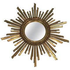 Giltwood Sunburst Mirror, French, circa 1970