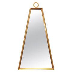 Giltwood Trapezoidal Wall Mirror in Manner of Tommi Parzinger, circa 1960s