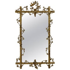 Giltwood Twig and Grapevine Mirror, American, Mid-19th Century