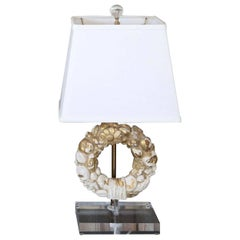 Giltwood Wreath Fragment Table Lamp