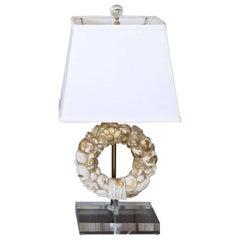 Giltwood Wreath Fragment Table Lamp
