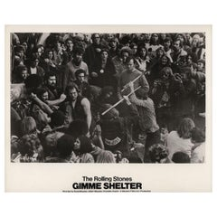 """Gimme Shelter"" 1971 U.S. Silver Gelatin Single-Weight Photo"