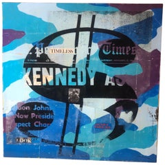 Gimme the Loot 'Kennedy Money' Mix-Media by American Artist Robert Mars, 2018