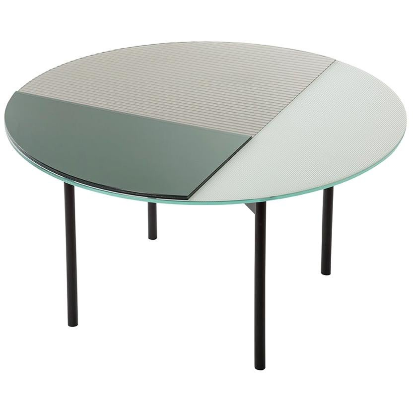 Gin Medium, Table, Dark Green, Silver, Ceramic, Minimal, European, 21st Century