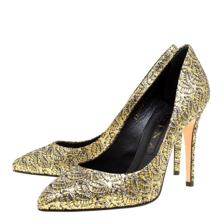 buy best new product get new Gina Metallic Gold Glitter Pumps Size 40