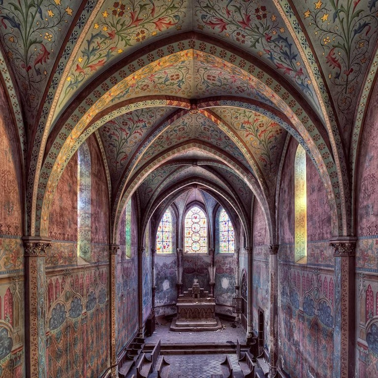Gina Soden Color Photograph - Eglise, Emergence series (Interior of abandoned church)