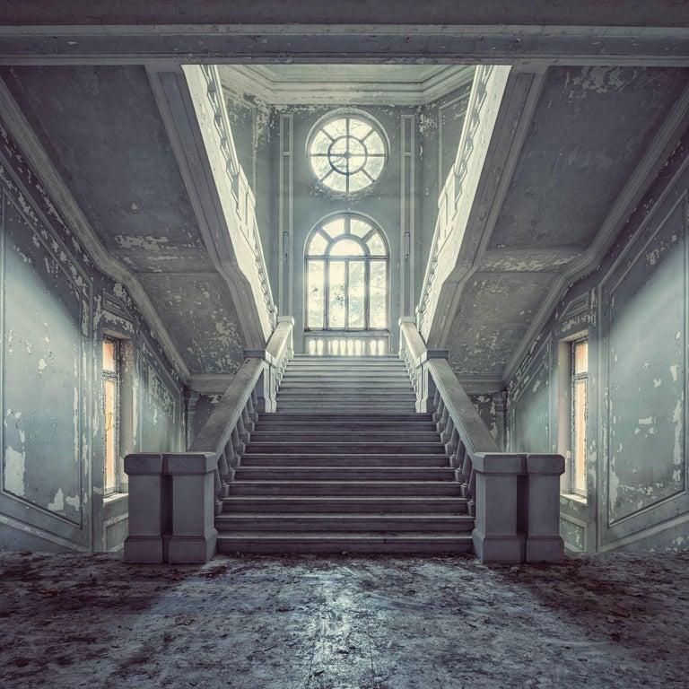 Gina Soden Landscape Photograph - Quattro, Incremento series (Interior of abandoned asylum, Italy)