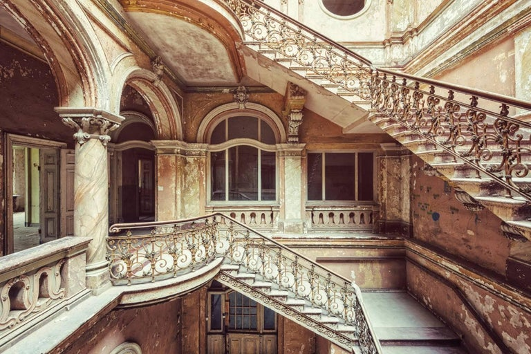 Gina Soden Landscape Photograph - Schody, Palac series (Interior of abandoned palace)