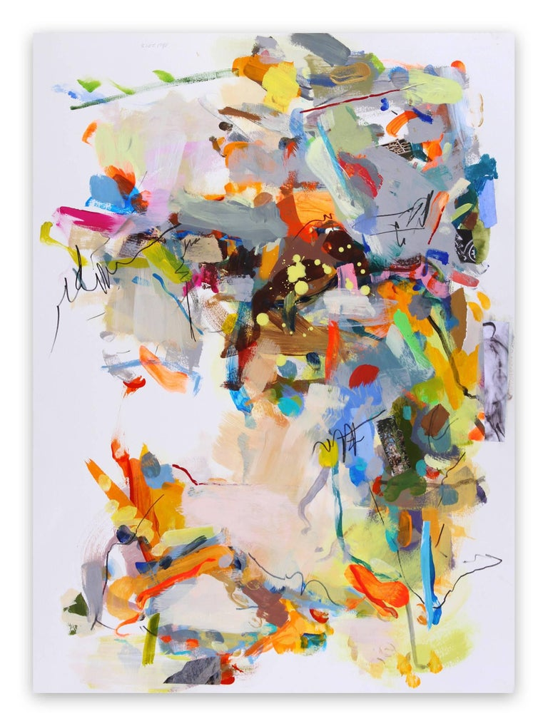 Gina Werfel Abstract Painting - Night (Abstract Expressionism painting)