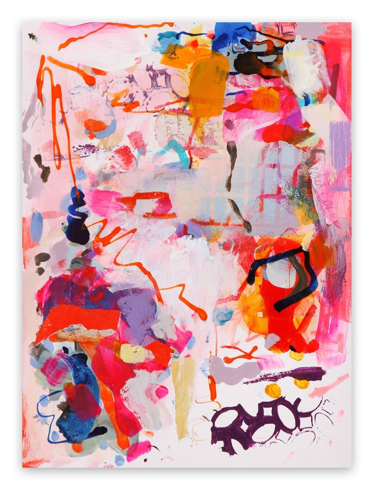 Gina Werfel Abstract Painting - Skeletal Structure (Abstract Expressionism painting)