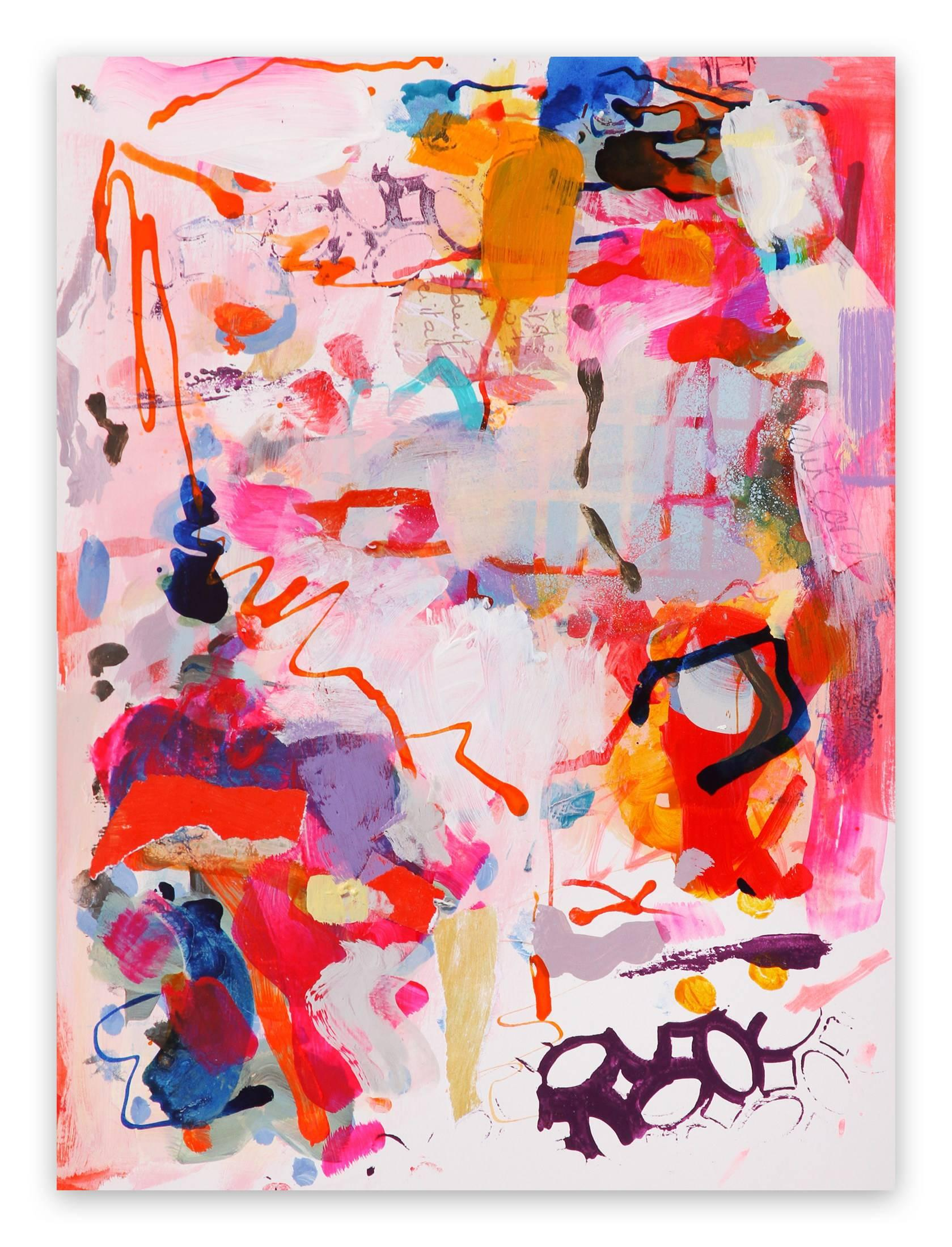 Skeletal Structure (Abstract Expressionism painting)