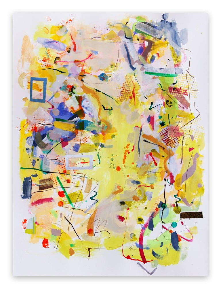 Gina Werfel Abstract Drawing - Spring (Abstract Expressionism painting)