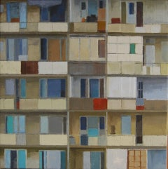 Apartment Building -21st Century Contemporary City scape Painting