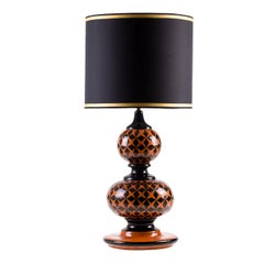 Ginger Lamp with Black Stars by Ceccarelli