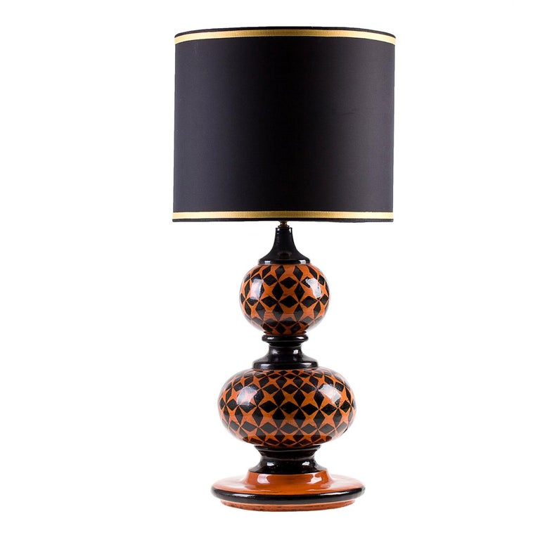 Ginger Lamp with Black Stars by Ceccarelli For Sale