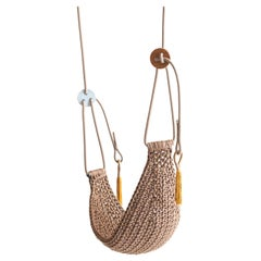 Ginger Saddle Swing Handmade Crochet Outdoor UV Protected Textile Hammock Seat