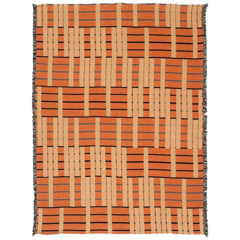 Ginger Woven Throw Blanket For Sale