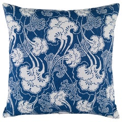 Ginkgoleaf Accent Pillow with Sarah Richardson Fabrics by CuratedKravet