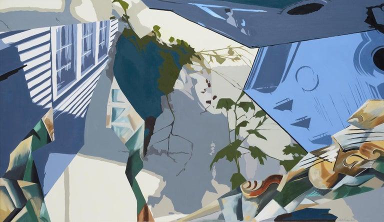 Ginnie Gardiner Figurative Painting - Blue Corbels