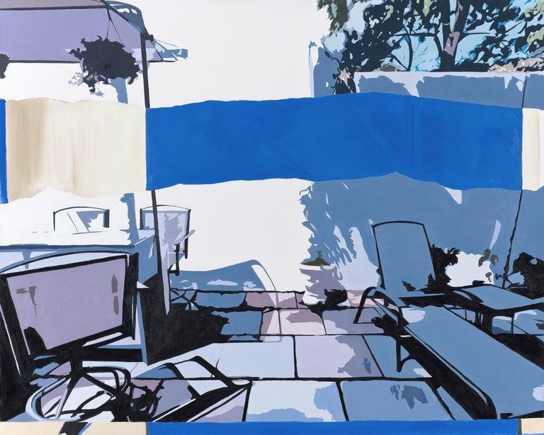 Ginnie Gardiner Abstract Painting - Blue Horizon
