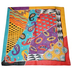 Ginnie Johansen Wonderfully Colorful & Whimsical Cotton Scarf
