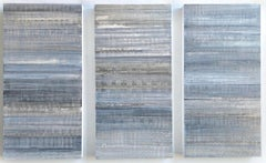 Nature-Inspired Minimalist Color Block Painting in Shades of Gray (C19-4)