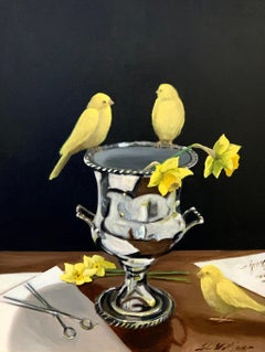 'Around the Water Cooler' by Ginny Williams Framed Realist Painting