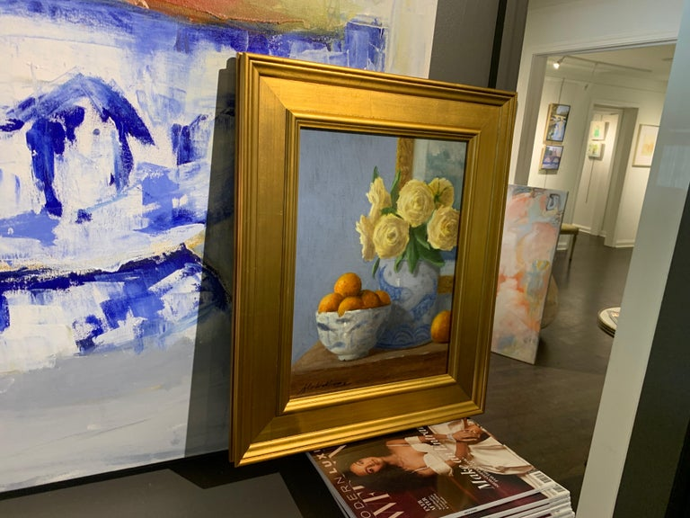 Arrangement With Clementines by Ginny Williams Framed Oil on Canvas Still Life For Sale 2