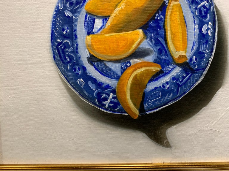 Blue Willow by Ginny Williams Petite 2010 Oil on Linen Still-Life Painting For Sale 6