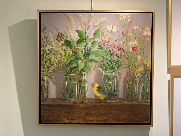 High Summer by Ginny Williams, Framed Realist Still-Life Painting For Sale 3